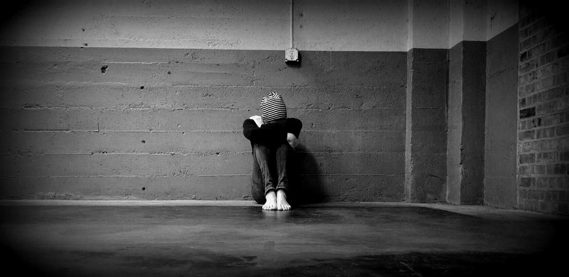 Gefühl verloren und einsam